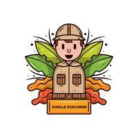 Vetor de explorador de selva