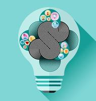 vetor criativo de lâmpada
