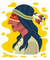 Ilustração de povos indígenas vetor