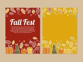 Folheto de festa de outono vetor