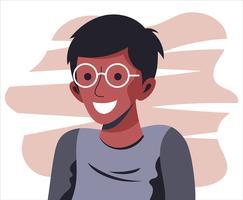 Menino com óculos vetor