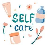 conjunto de embalagens de cosméticos. soro, creme, loção, fluido. cuidados com a pele diurnos e noturnos, de rotina. vetor