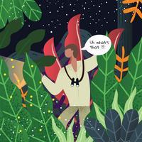 projeto de vetor de explorador de selva