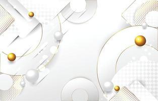 fundo branco com detalhes dourados vetor