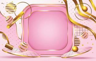 uma combinação luxuosa de rosa e ouro vetor