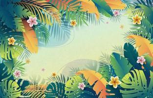 fundo de vibrações tropicais de verão vetor