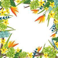 fundo de flor tropical de verão vetor