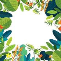 conceito de fundo floral de verão tropical vetor
