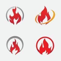 design de ilustração vetorial de chama de fogo vetor
