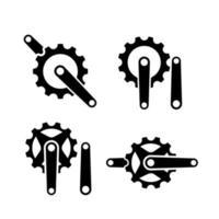 conjunto coleção manivela creek ciclo bicicleta de esporte criativo com letra inicial c logotipo de vetor ícone ilustração