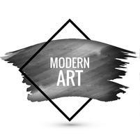 Fundo preto aquarela arte moderna vetor
