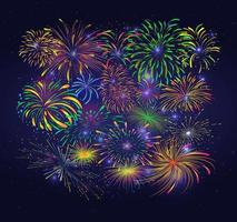 fogos de artifício e biscoitos vetor