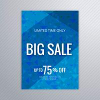 Design de modelo de folheto azul grande venda abstrata vetor