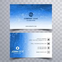 Modelo de cartão azul abstrato vetor