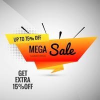 Mega venda cartaz modelo vector background