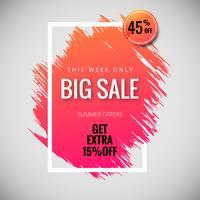 Grande venda banner cartaz modelo fundo ilustração vector