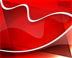 Fundo ondulado vermelho lindo abstrato vetor