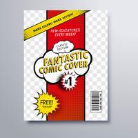 Modelo de capa de revista de quadrinhos pop art vetor