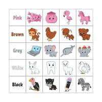 aprendendo cores para crianças vetor