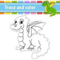 traço e cor - dragão vetor
