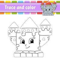 traço e cor - castelo vetor