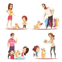 ilustração em vetor conceito de design de cachorro favorito