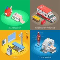ilustração em vetor conceito design medicina moderna