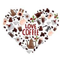 amo ilustração vetorial de conceito de design de café vetor