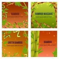 ilustração em vetor conceito realista de bambu