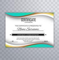 Fundo de onda linda certificado criativo vetor