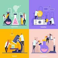 ilustração em vetor conceito design plano de laboratório de ciências