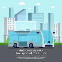 ilustração em vetor composição de veículo não tripulado autônomo