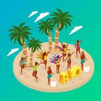 ilustração em vetor conceito carnaval brasileiro