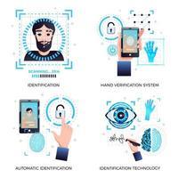 ilustração em vetor conceito tecnologias de identificação
