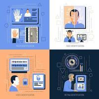 ilustração em vetor conceito de design de tecnologias de identificação