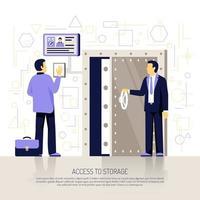 ilustração vetorial de composição plana de tecnologias de identificação vetor