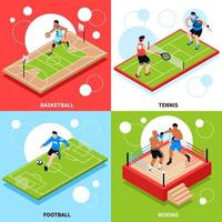 ilustração em vetor conceito anel campo quadra esportiva