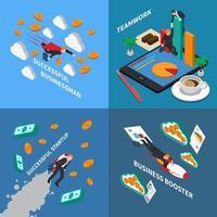 ilustração em vetor conceito de design de reforço de negócios 2x2