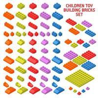 ilustração em vetor peças isométricas de construtor de brinquedo
