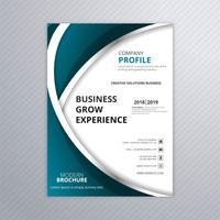 Design de modelo de folheto de negócios ondulado elegante criativo vetor