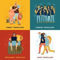 ícones de conceito de dicas de viagem definir ilustração vetorial vetor