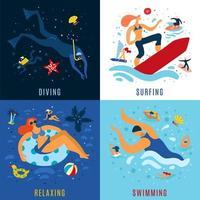 ilustração em vetor conceito atividades marítimas