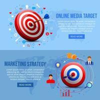 ilustração em vetor banners de marketing de segmentação realista
