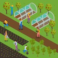 espaço verde funciona ilustração vetorial de composição vetor