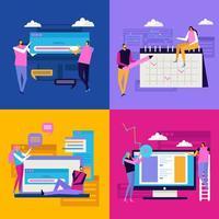 ilustração em vetor conceito design de interface plana