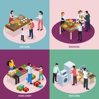 ilustração em vetor conceito de design de economia de compartilhamento
