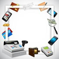ilustração vetorial de fundo de quadro realista de pagamento vetor