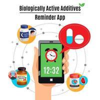 ilustração em vetor conceito de design de aditivos ativos biológicos