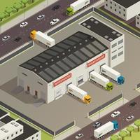 ilustração em vetor logistic camionagem isométrica