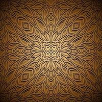 padrão vintage ouro sem costura vetor